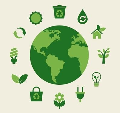 Tierra ecológica verde